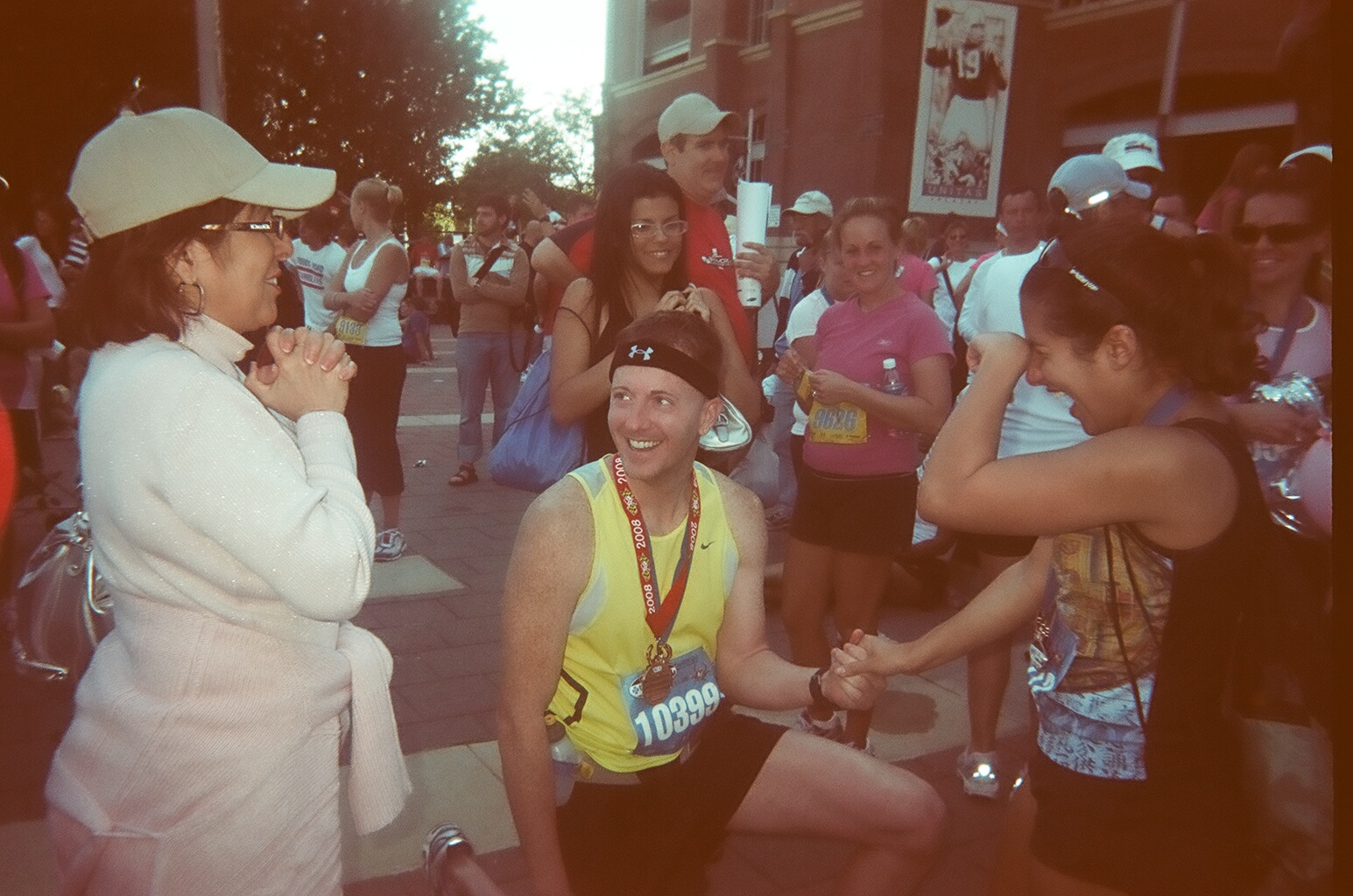 Image 2 of Monica and Steve - Not a Bad Way to Cross The Finish Line...