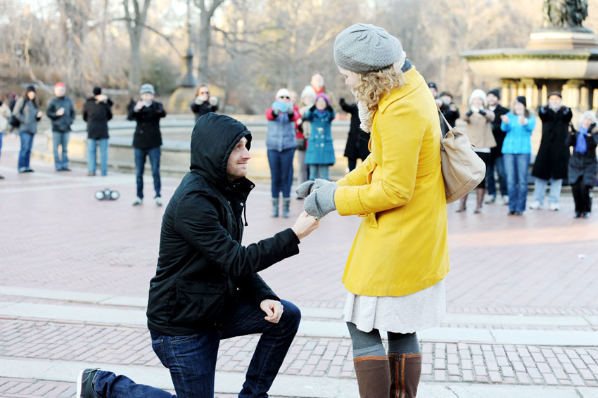 Image 7 of Danielle and Ron | Central Park Proposal