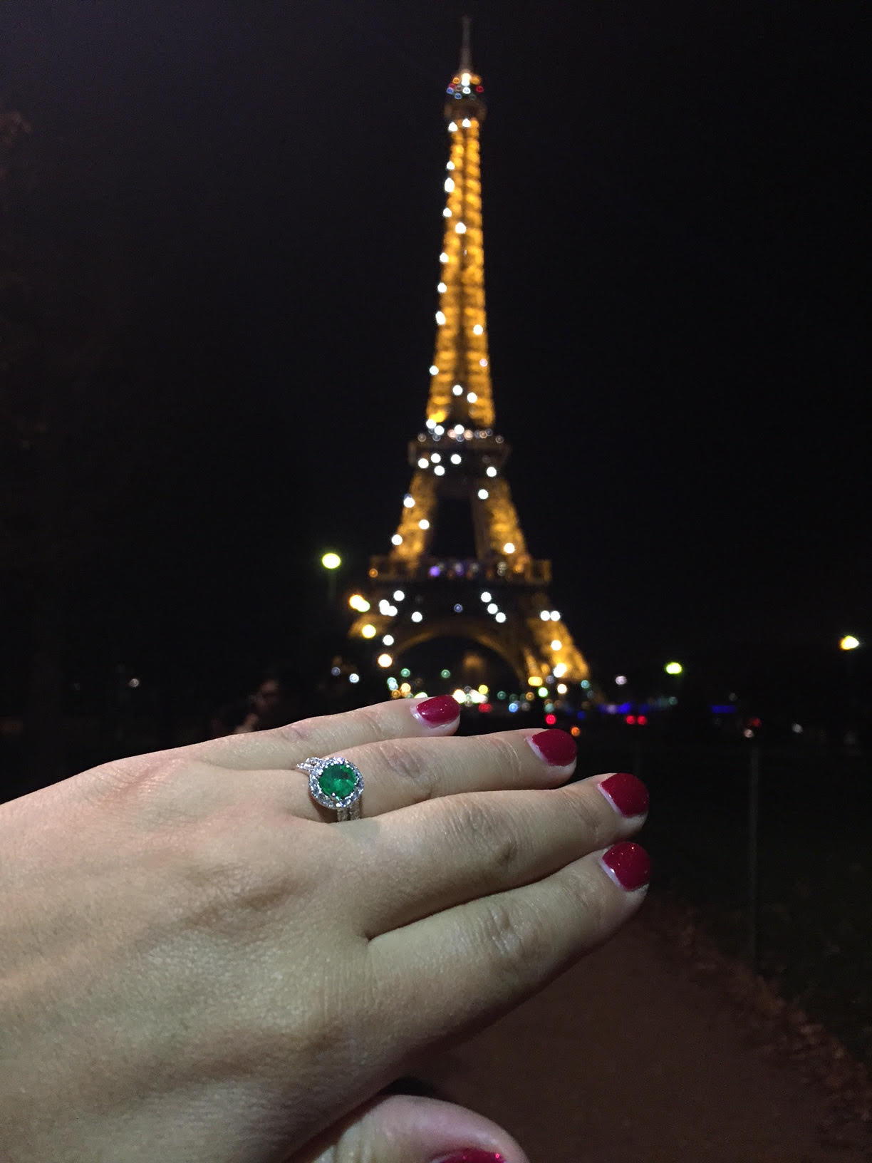 Emeral engagement ring