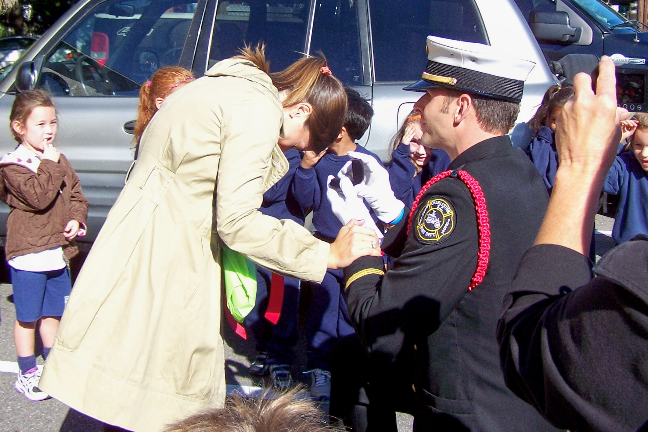 Image 3 of Sophie and Rob; Fire Drill Marriage Proposal