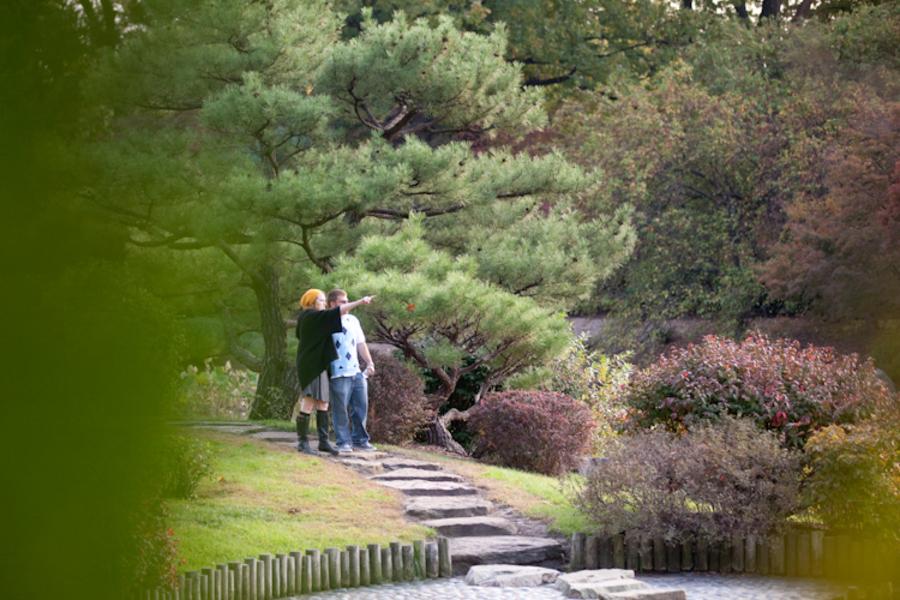 Image 3 of Marriage Proposal at the Missouri Botanical Gardens; John Paul and Gertrude