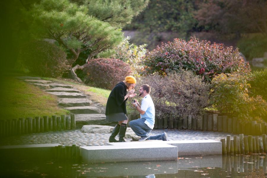 Image 4 of Marriage Proposal at the Missouri Botanical Gardens; John Paul and Gertrude