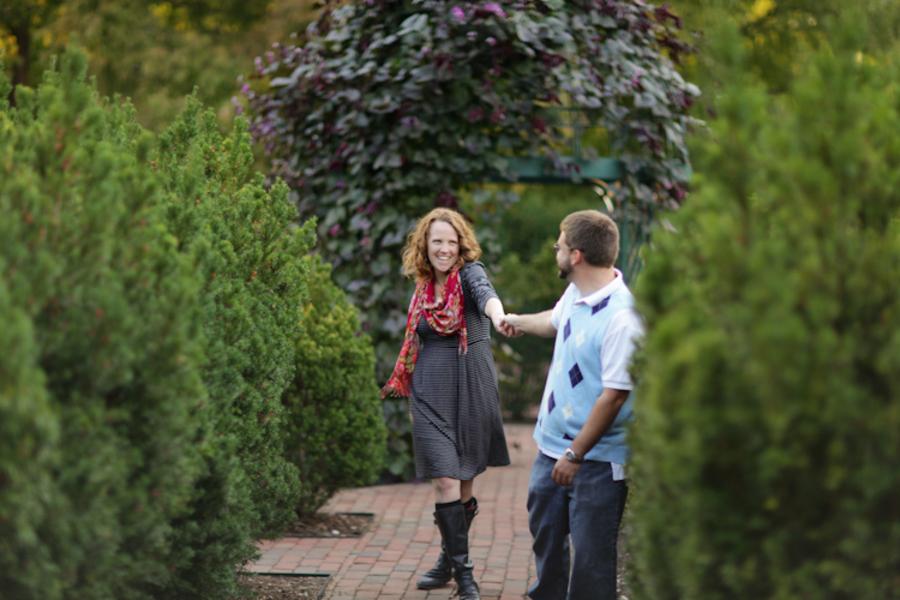 Image 2 of Marriage Proposal at the Missouri Botanical Gardens; John Paul and Gertrude