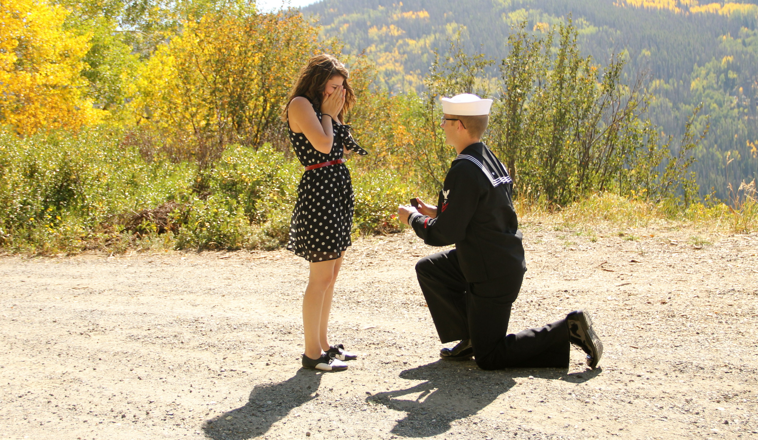 Image 3 of Navy Marriage Proposal; Lacy and Josh
