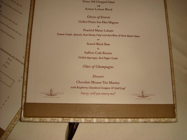 Image 5 of Marriage Proposal on the Menu?
