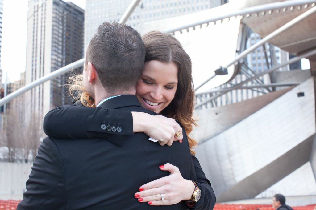 Image 8 of Musical Proposal Video at Chicago's Millennium Park