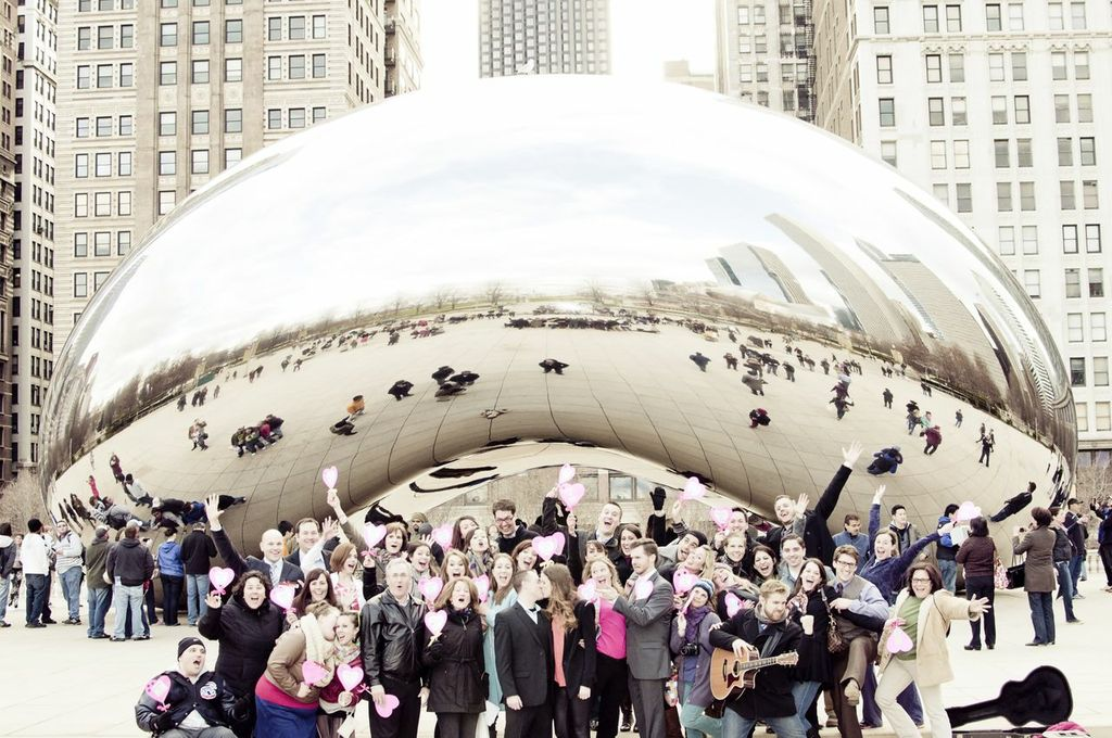 Image 9 of Musical Proposal Video at Chicago's Millennium Park