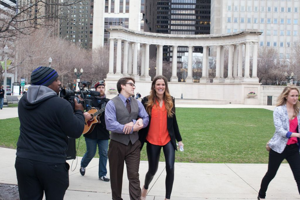 Image 1 of Musical Proposal Video at Chicago's Millennium Park