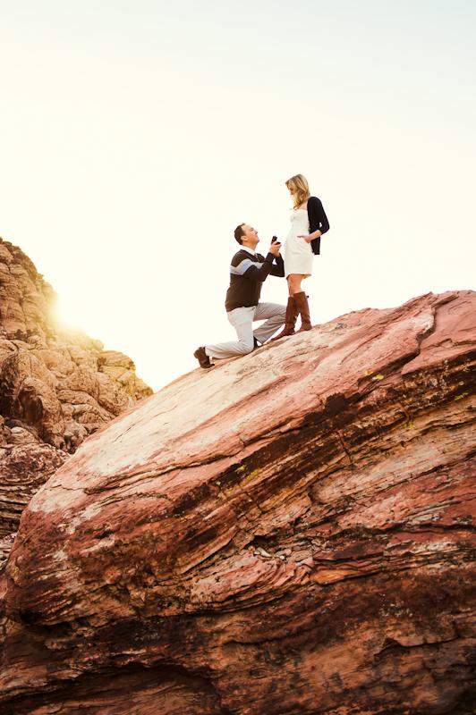Image 4 of Surprise Wedding Proposal at Red Rock Canyon