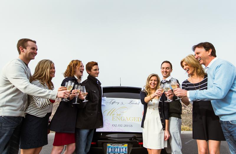 Image 9 of Surprise Wedding Proposal at Red Rock Canyon