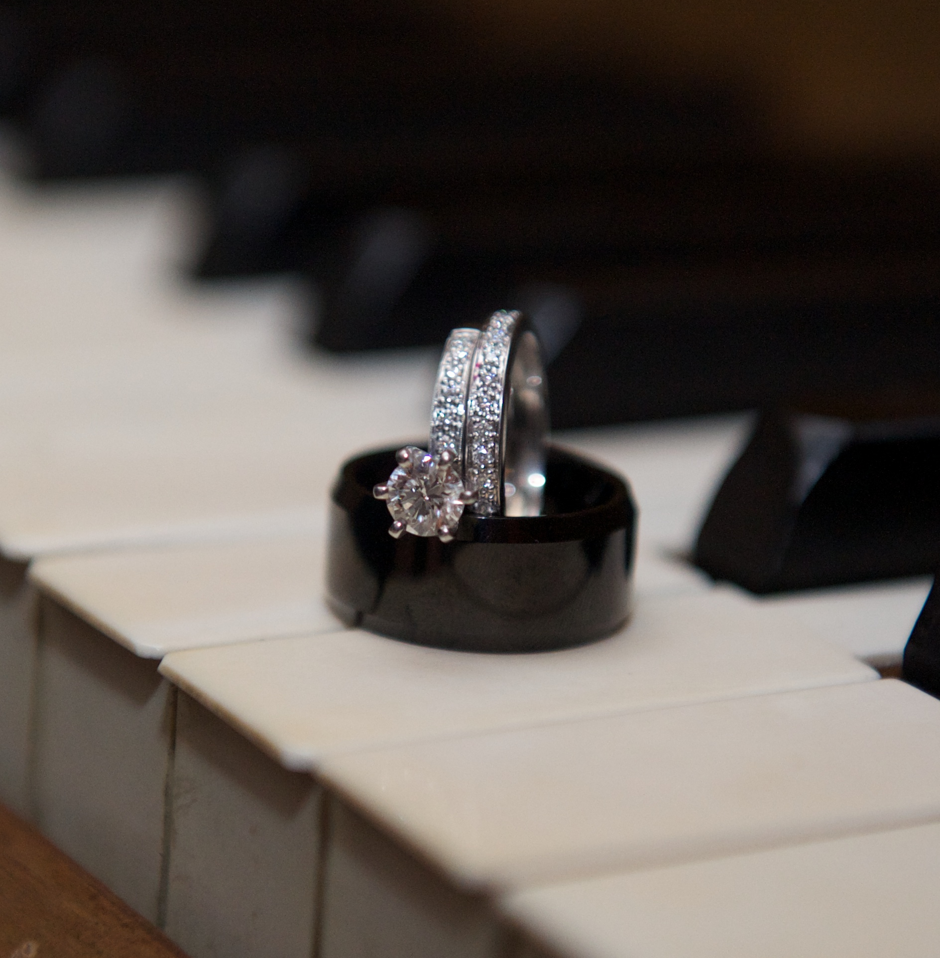 Engagement Ring on the Piano