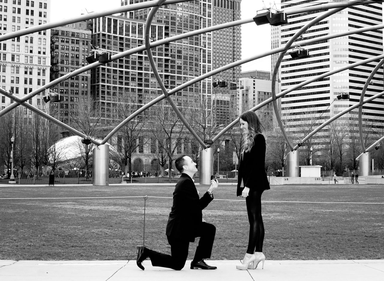 Jodi and Dan Proposal Chicago 1