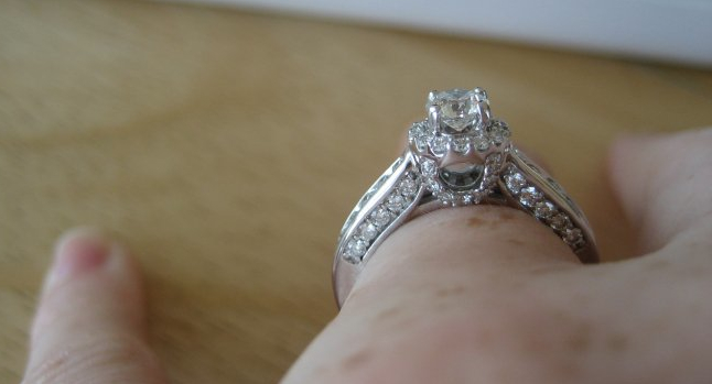Side Details on an Engagement Ring