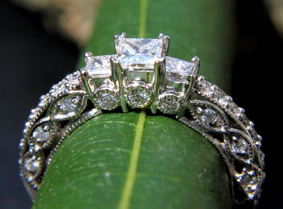 Vintage Etsy Engagement Ring