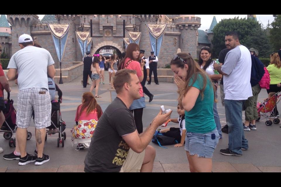 Image 3 of Disneyland Marriage Proposal