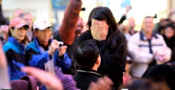 Flash Mob Proposal in Vegas