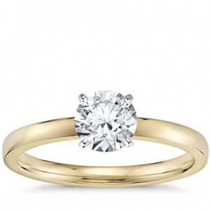 Low Dome Comfort Fit Solitaire Engagement Ring