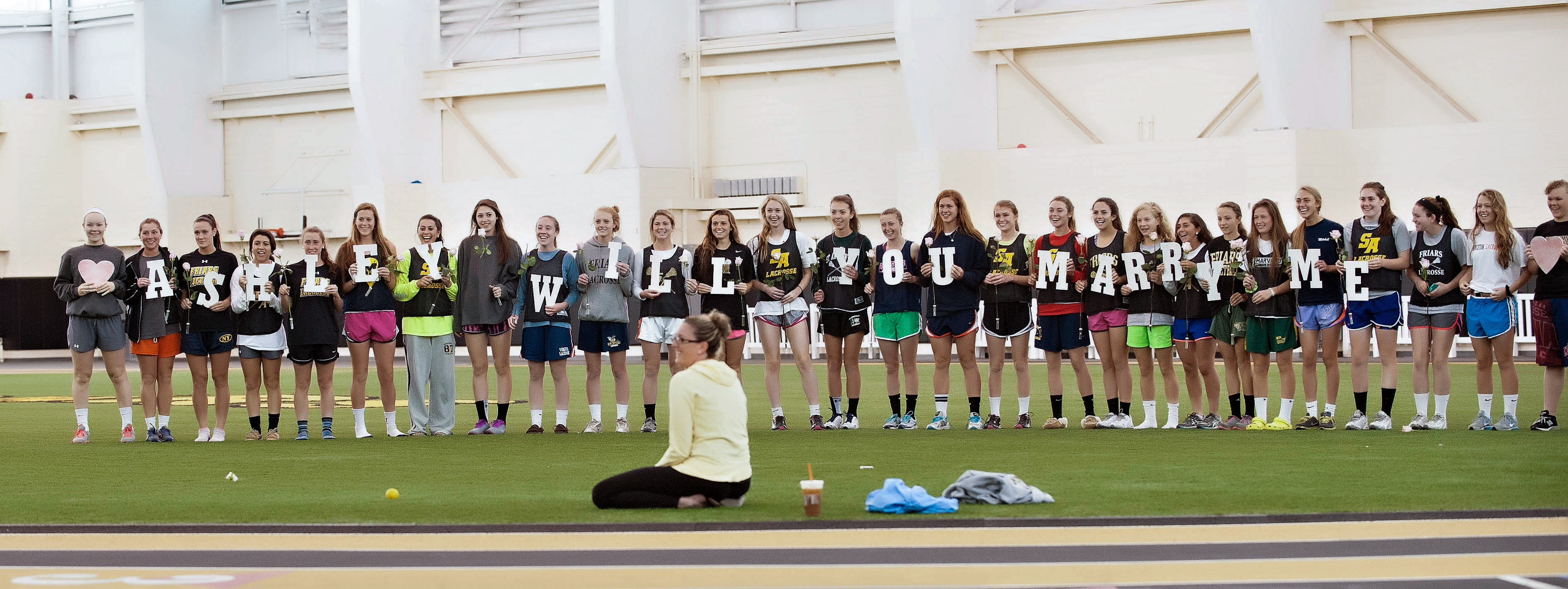 Image 3 of Marriage Proposal at Lacrosse Practice