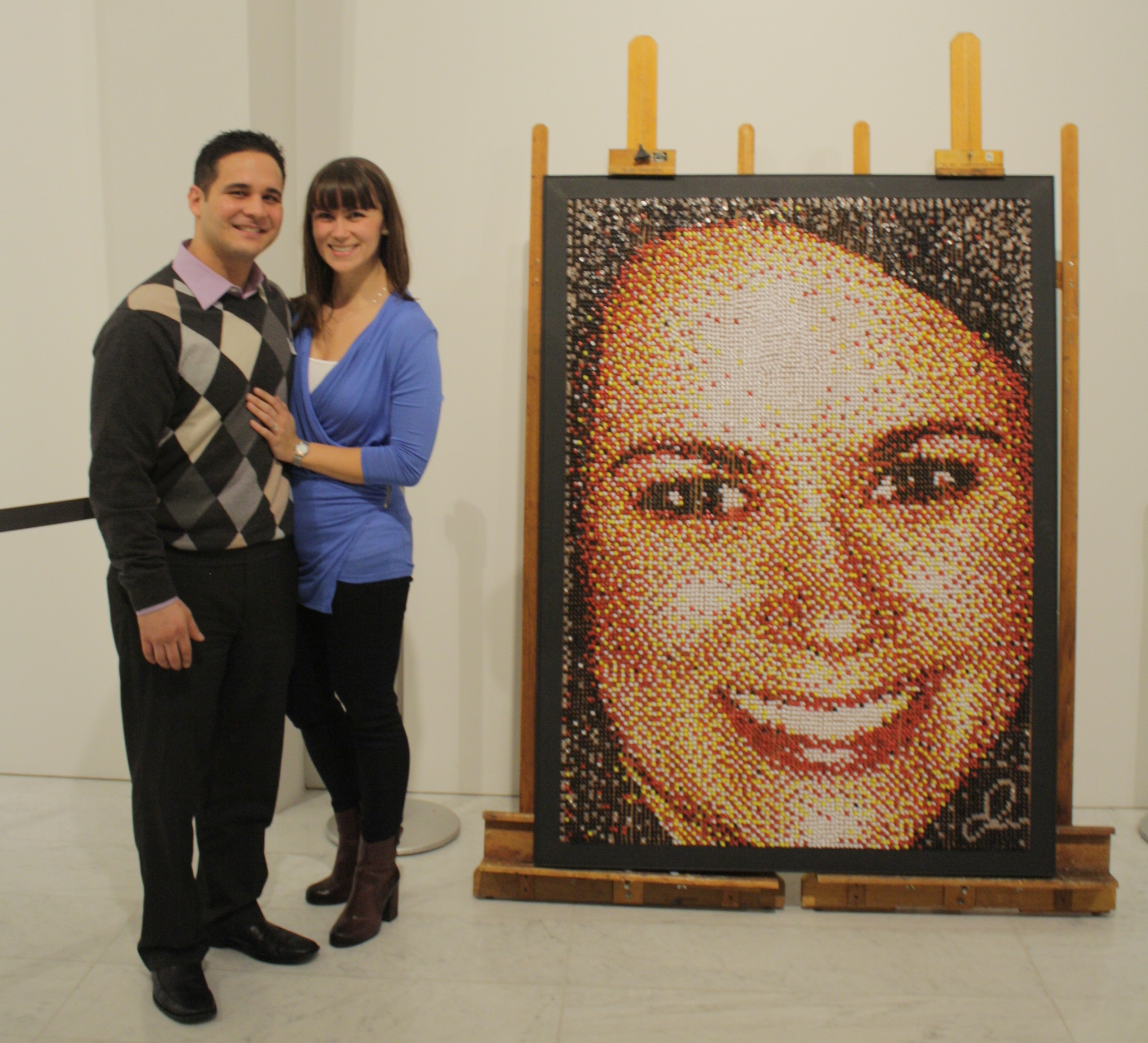 Image 1 of Push Pin Portrait Marriage Proposal