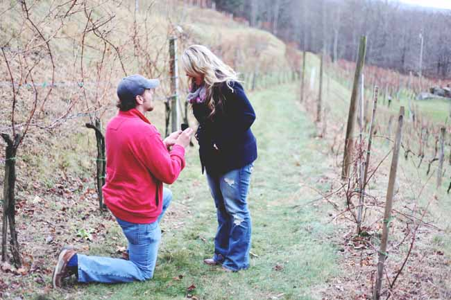 Image 1 of Jessica and Adam | Proposal at a Winery