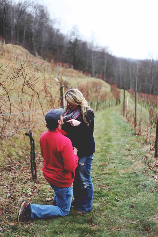 Image 2 of Jessica and Adam | Proposal at a Winery