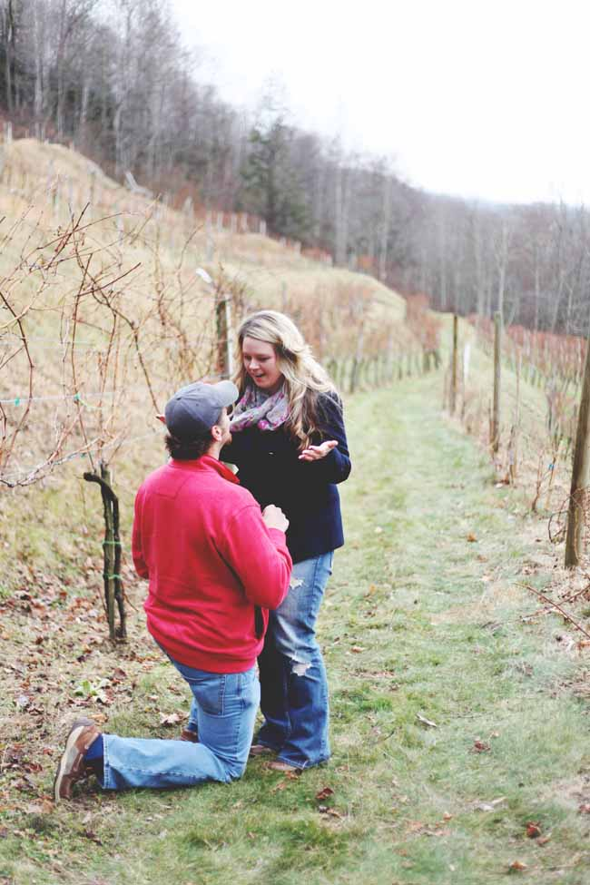 Image 6 of Jessica and Adam | Proposal at a Winery