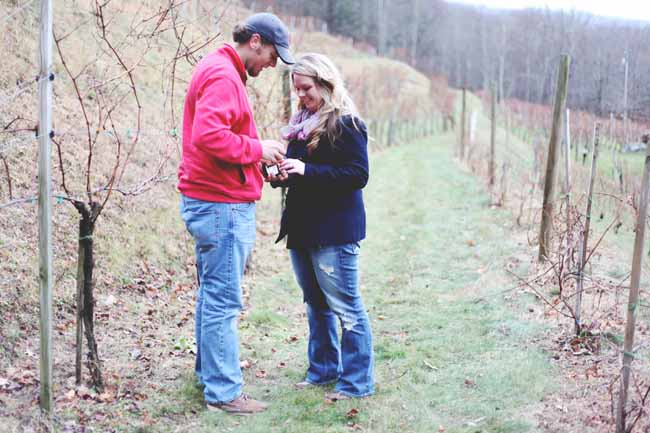 Image 8 of Jessica and Adam | Proposal at a Winery