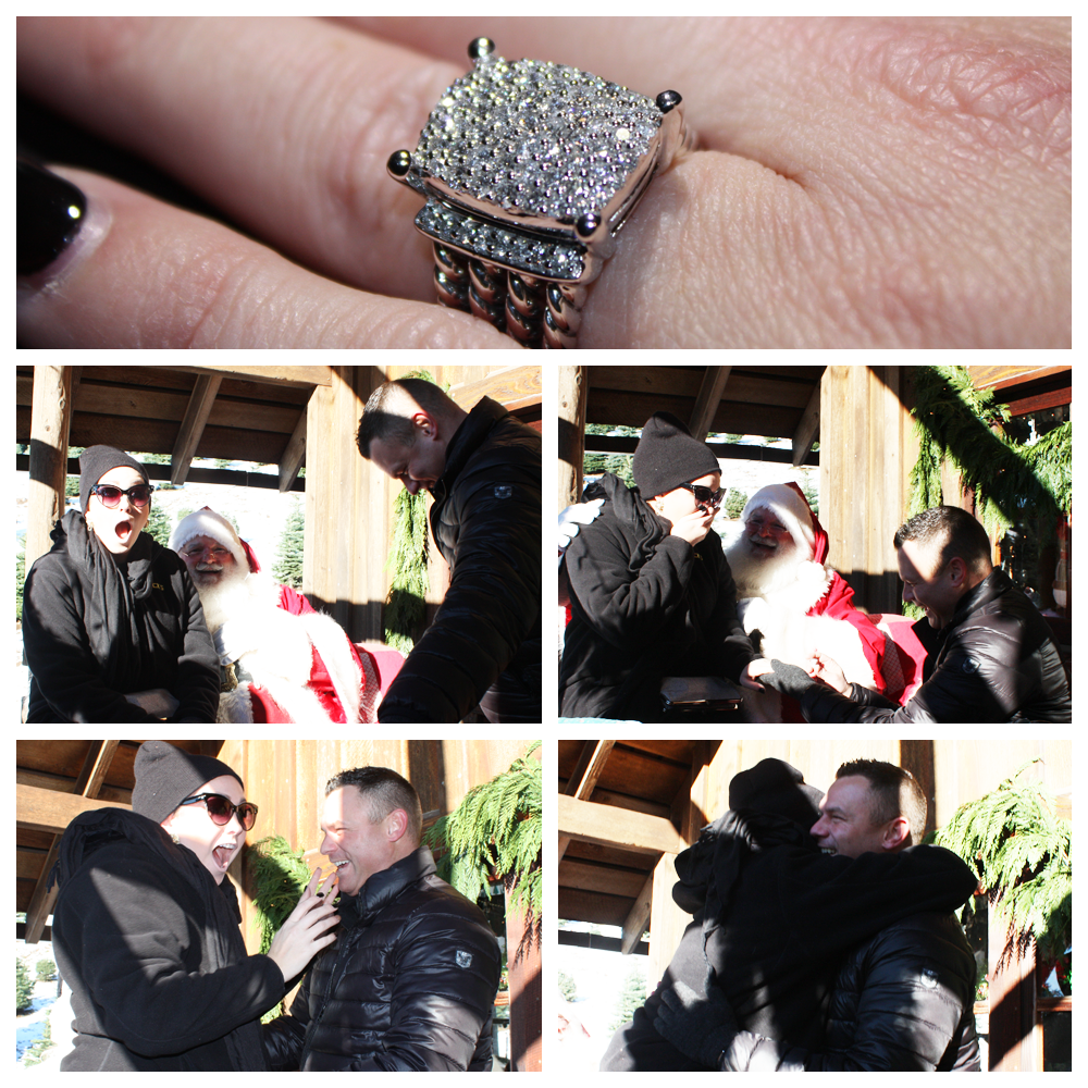 Image 2 of Surprise Christmas Proposal with Santa: Tony and Erica