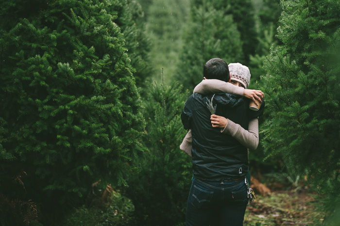 Image 12 of Marriage Proposal at a Christmas Tree Farm