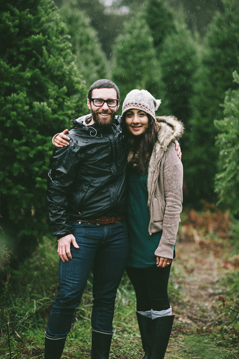Image 1 of Marriage Proposal at a Christmas Tree Farm