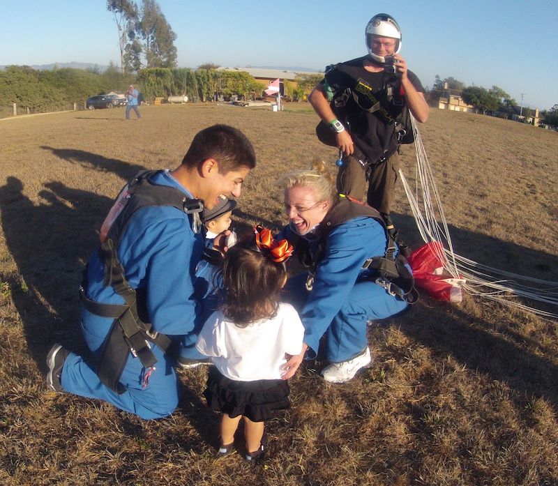 Image 12 of Sky Diving Marriage Proposal
