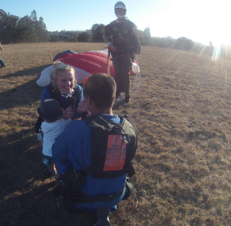 Image 10 of Sky Diving Marriage Proposal