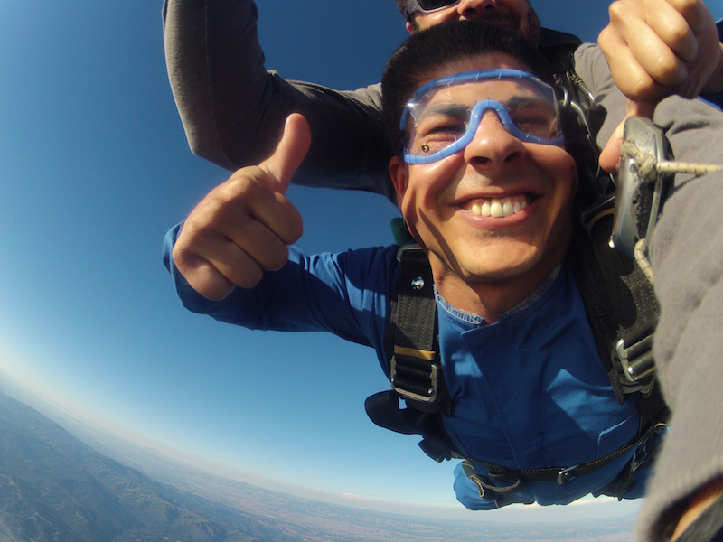 Image 2 of Sky Diving Marriage Proposal