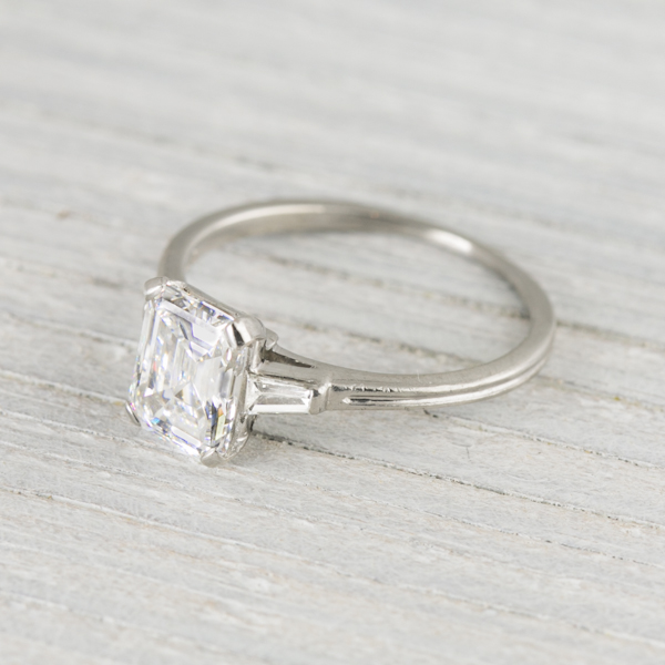 Antique Asscher Engament Ring
