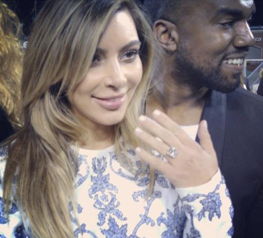 Kim Kardashian Proposal Picture