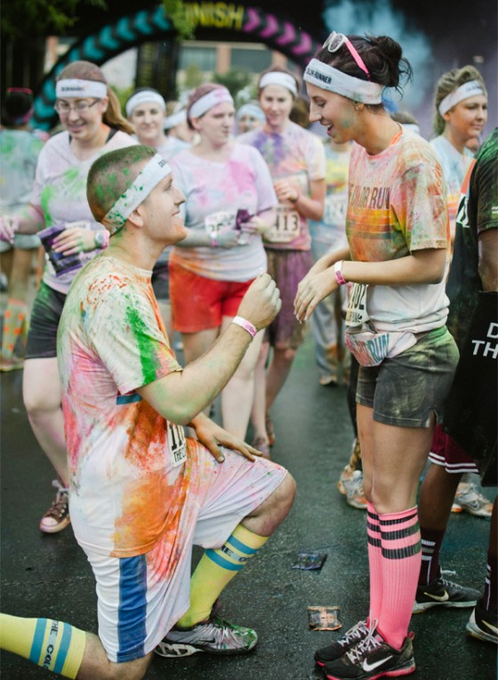 Color Run Marriage Proposal Photo_14