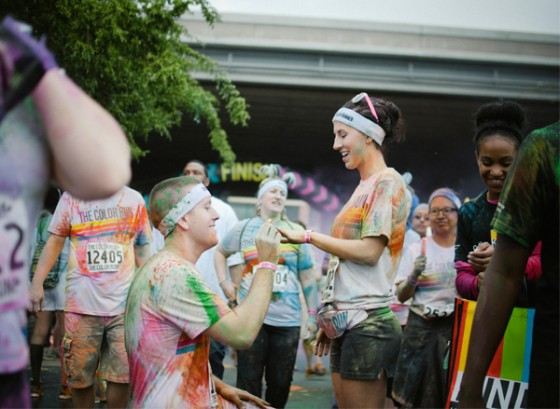Color Run Marriage Proposal Photo_16