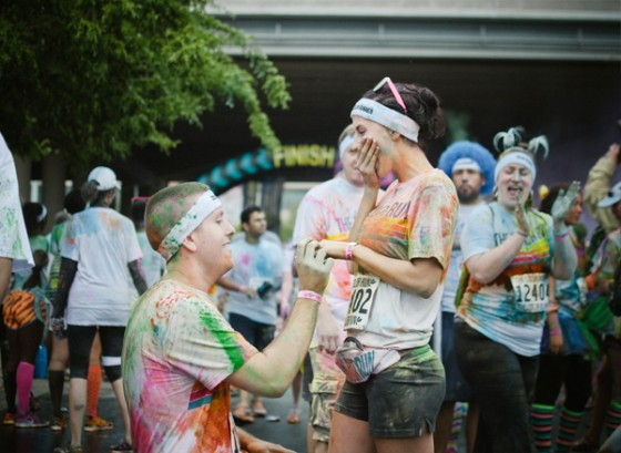 Color Run Marriage Proposal Photo_17