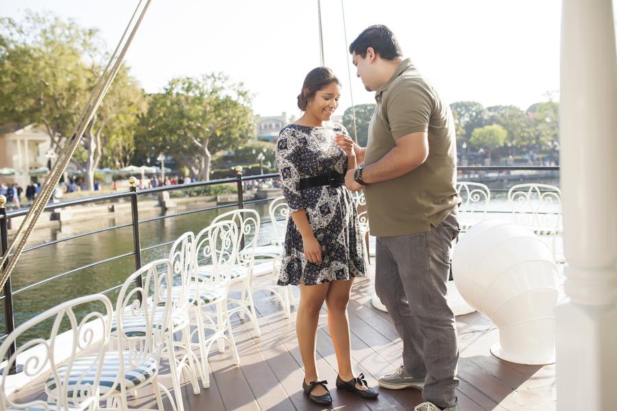 Image 3 of Christina and Jon; Proposal at Disney