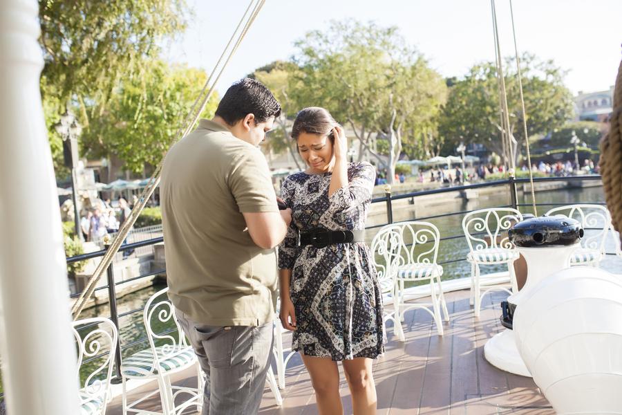 Image 4 of Christina and Jon; Proposal at Disney