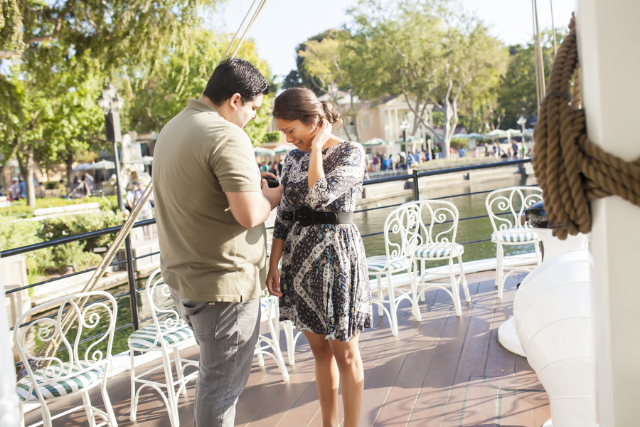 Image 5 of Christina and Jon; Proposal at Disney