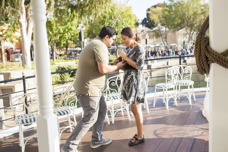 Image 6 of Christina and Jon; Proposal at Disney