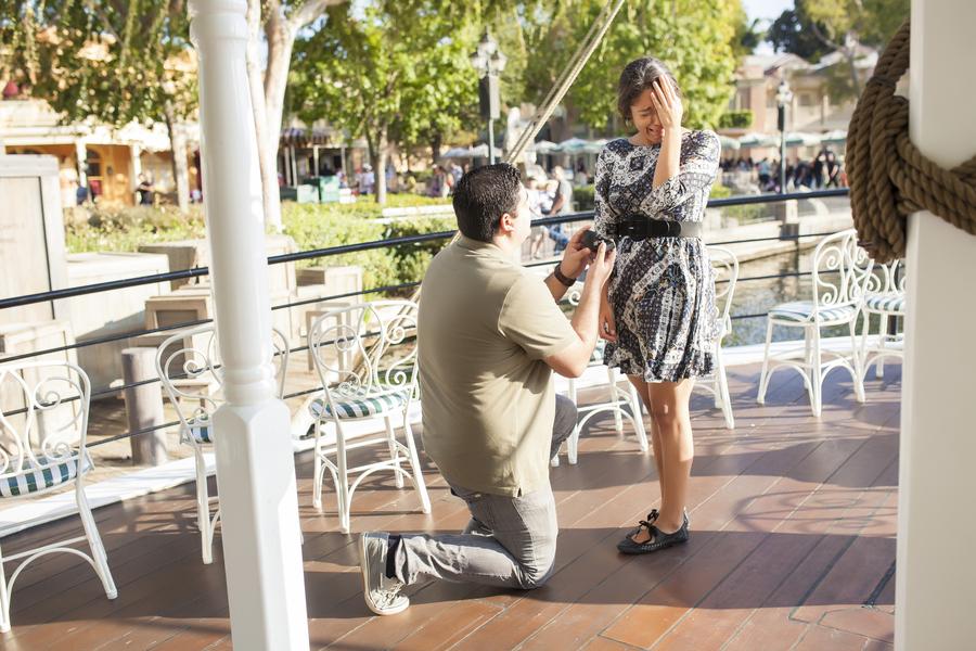 Image 8 of Christina and Jon; Proposal at Disney