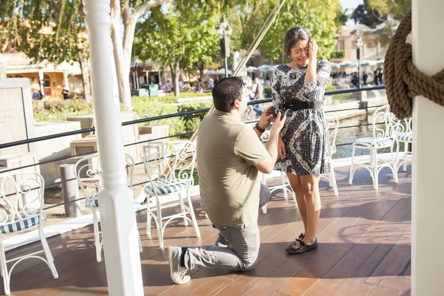 Image 9 of Christina and Jon; Proposal at Disney