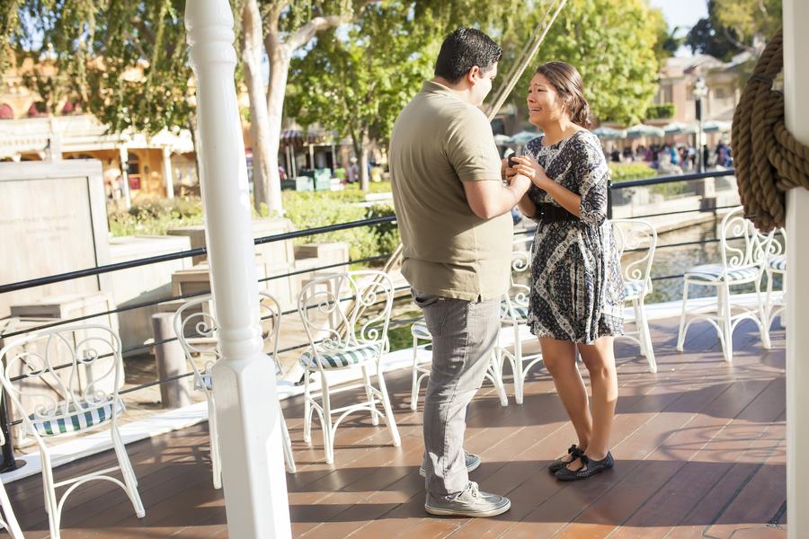 Image 13 of Christina and Jon; Proposal at Disney