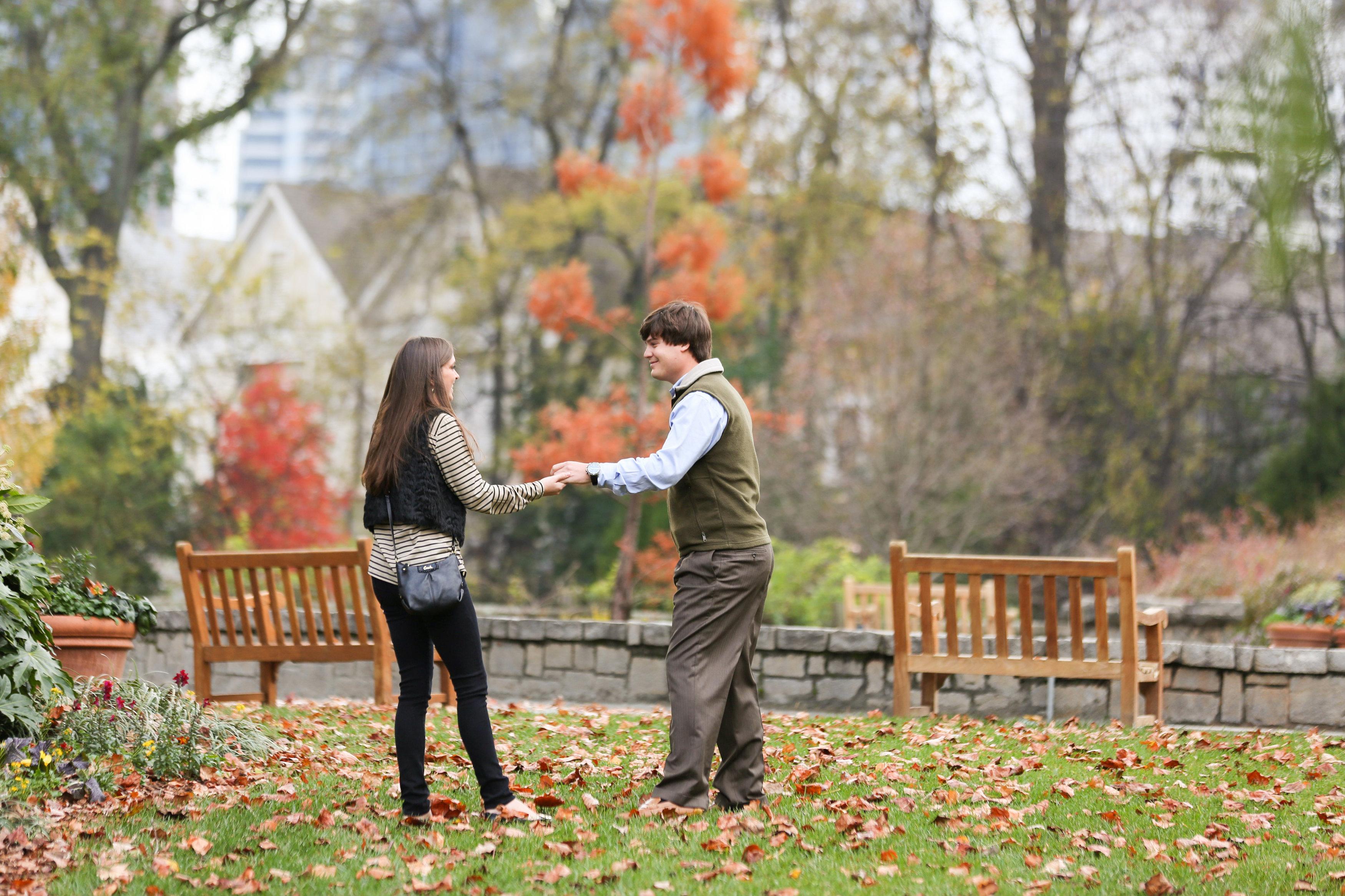 Image 3 of Alex and Lindsey | Atlanta Botanical Gardens Proposal