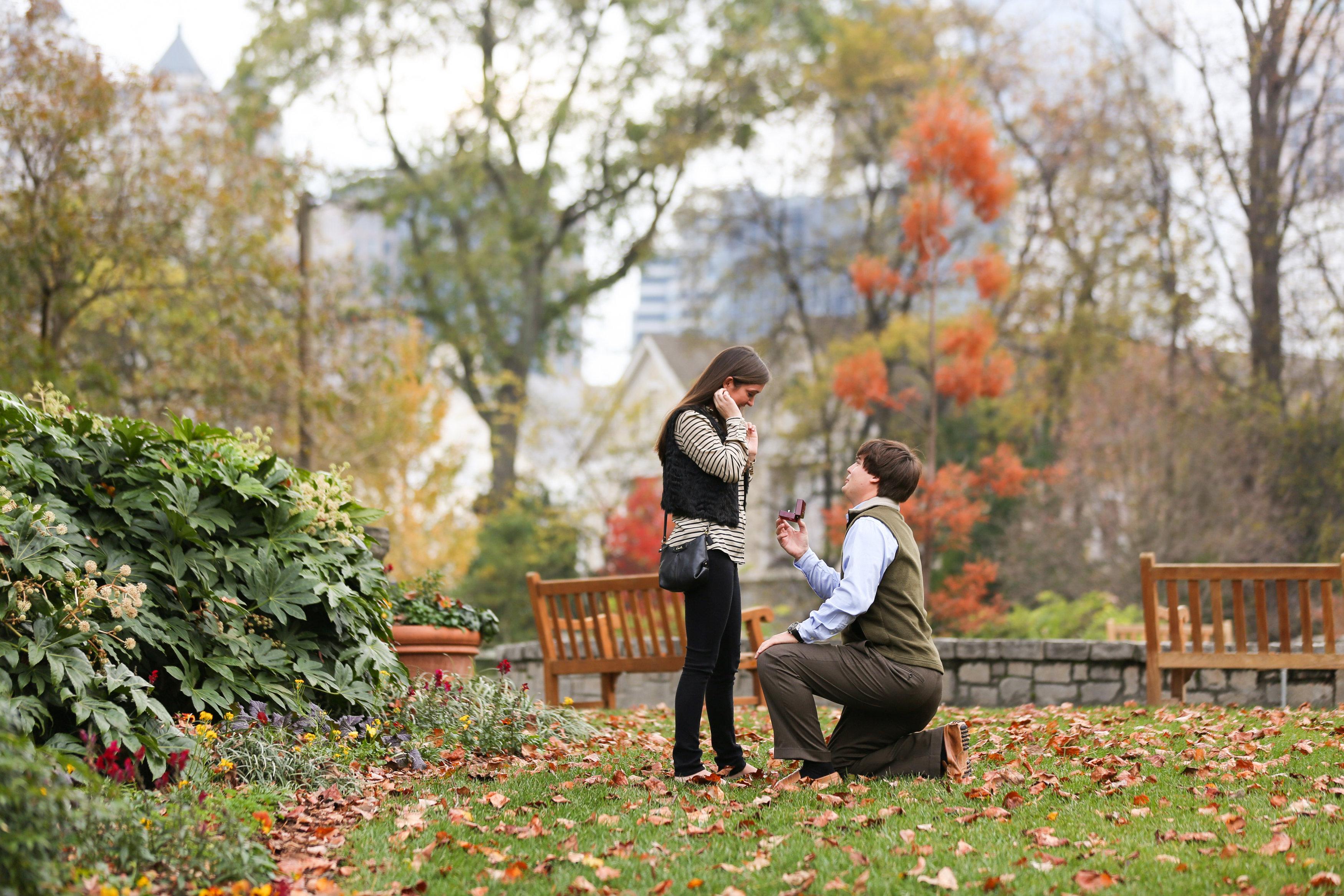Image 6 of Alex and Lindsey | Atlanta Botanical Gardens Proposal