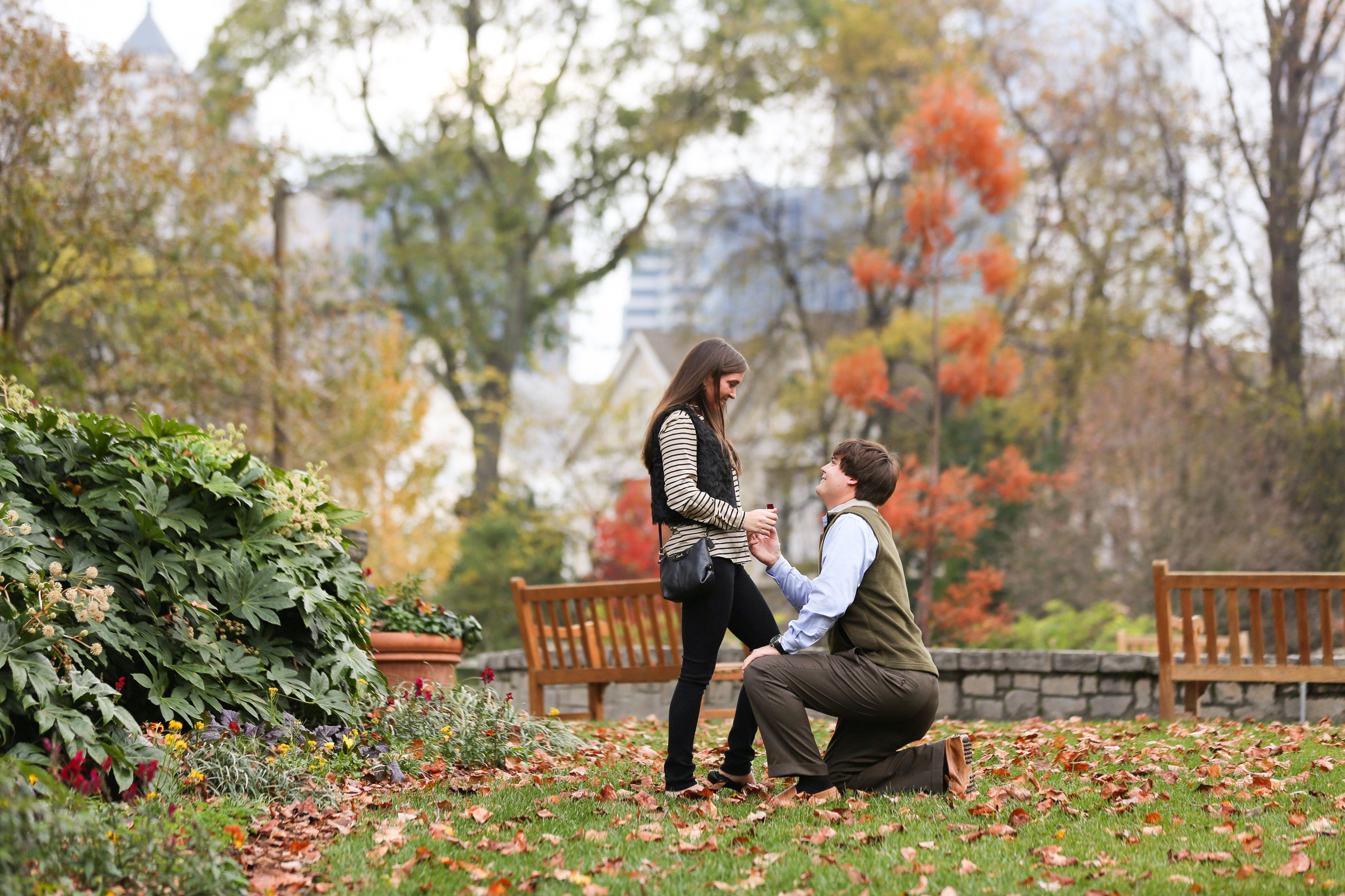 Image 7 of Alex and Lindsey | Atlanta Botanical Gardens Proposal