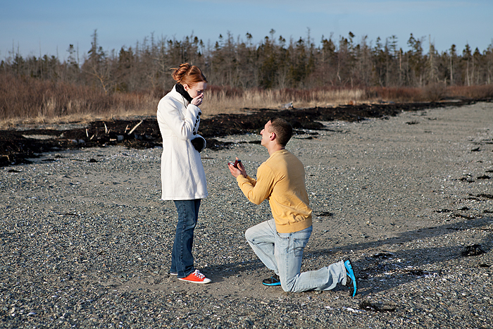 best marriage proposal ever_Coastal Maine Proposal