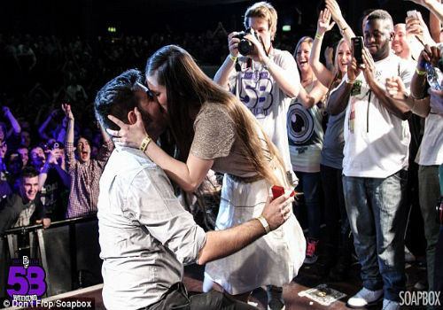 Image 1 of Rapper Proposes To Girlfriend During Rap Battle